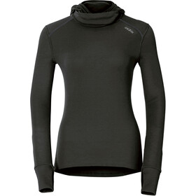 Odlo Warm Shirt LS with Facemask Damen black